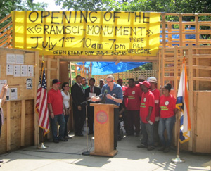 Thomas Hirschhorn's Gramsci Monument (Forest Houses, Bronx, 2013)