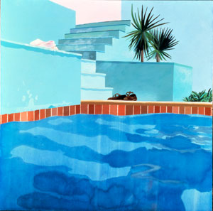 David Hockney's Pool and Steps, Le Nid du Duc (private collection, 1971)