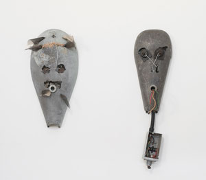 Lonnie Holley's The Negative/Positive Mask of Power (James Fuentes gallery, 2004)