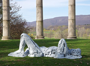 Thomas Houseago's Sleeping Boy 1 (courtesy Storm King Art Center, private collection, 2012)
