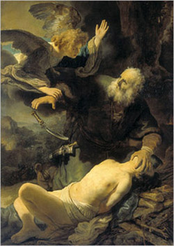 Rembrandt's Sacrifice of Isaac (Hermitage, 1635)