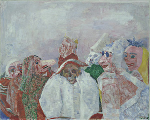 James Ensor's Masks Confronting Death (Museum of Modern Art, 1888)