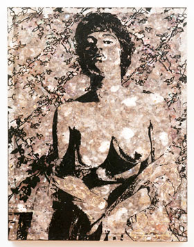Jane Hammond's Nude with Wallpaper (Galerie Lelong, 2011)