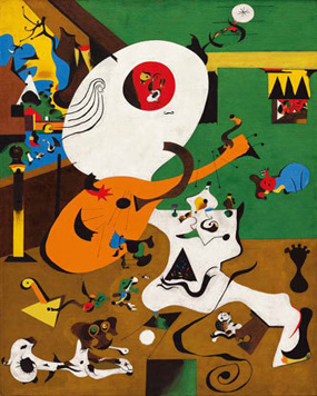 Joan Miro's Dutch Interior (I) (Museum of Modern Art, 1928)