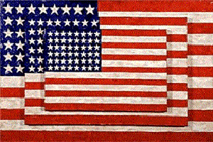 Johns's Three Flags (Whitney Museum of American Art, 1958)