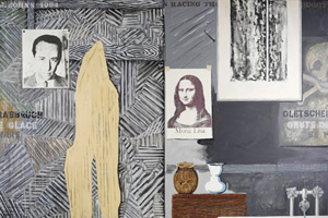 Jasper Johns's Racing Thoughts (photo by Jamie M. Stukenberg/licensed by VGA, Robert and Jane Meyerhoff Collection, 1984)