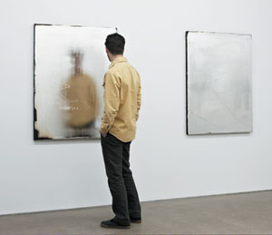 Jacob Kassay's installation view (Eleven Rivington, 2009)
