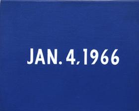 On Kawara's JAN. 4, 1966 (David Zwirner gallery/Solomon R. Guggenheim Museum, 1966)