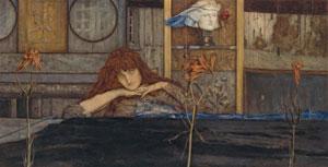 Fernand Khnopff's I Lock My Door upon Myself (Neue Pinakothek, Munich, 1891)