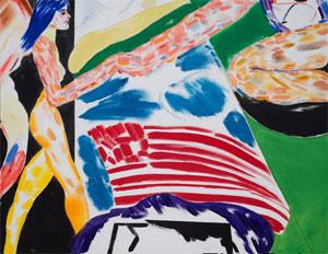 R. B. Kitaj's Los Angeles No. 16 (Bed) (Marlborough, 2001–2002)