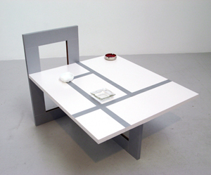 Alice Konitz's Table for a Family of Three Smokers (Bellwether, 2007)
