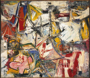 Willem de Kooning's Gotham News (photo by de Kooning Foundation/ARS, Albright-Knox Art Gallery, 1955)