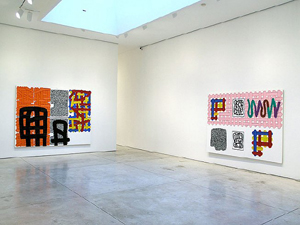 Jonathan Lasker's installation view (Cheim and Read, 2007)