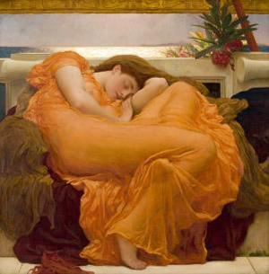 Frederic Leighton's Flaming June (Museo de Arte de Ponce, c. 1896)