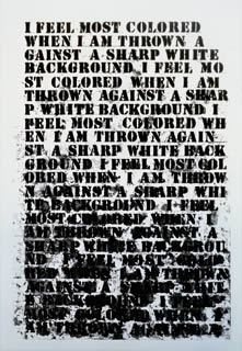 Glenn Ligon'a Untitled (I Feel Most Colored When . . .) (Whitney Museum of American Art, 1992)