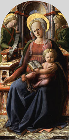 Filippo Lippi's Madonna and Child Enthroned (Metropolitan Museum of Art, 1434)