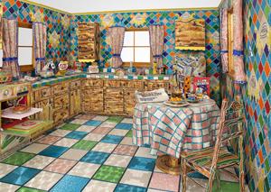 Liza Lou's Kitchen (photo by Tom Powel, Whitney Museum, 1991–1996)