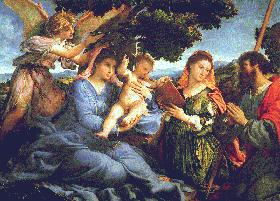 Lorenzo Lotto's Madonna and Child with Saints Catherine and James (Kunsthistorisches Museum, Vienna, 1527–1533)