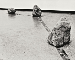 Lee Ufan's Relatum (photo by the artist, National Museum of Modern Art, Kyoto, 1969)