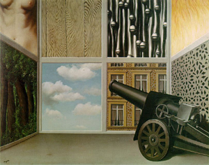 Rene Magritte's On the Threshold of Liberty (Museum Boymans-van Beuningen, Rotterdam, 1929)