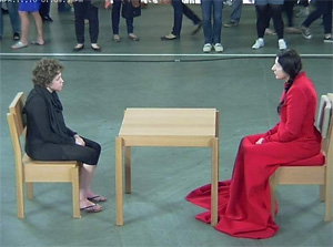 Marina Abramovic (and guest), The Artist Is Present (Museum of Modern Art, 2010)