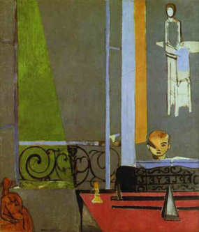 Henri Matisse's The Piano Lesson (Museum of Modern Art, 1916)