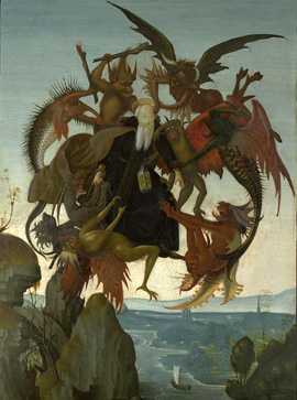 The Torment of Saint Anthony attributed to Michelangelo (Kimbell Art Museum, c. 1488)