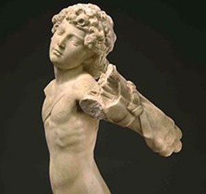 Young Archer attributed to Michelangelo (French Republic/Metropolitan Museum/AP, c. 1490)