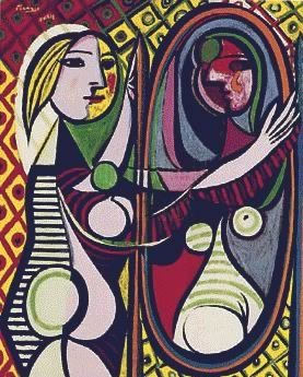 Picasso's Girl Before a Mirror (Museum of Modern Art, Gift of Mrs. S. Guggenheim, 1932)