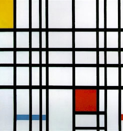 Piet Mondrian's Composition in Red, Yellow, and Blue (Palazzo Grassi, Venice, 1921)