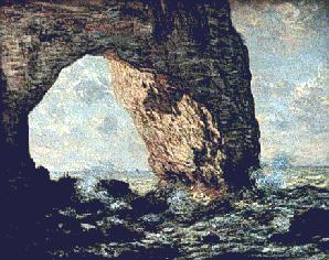 Claude Monet's Etretat (Metropolitan Museum of Art, 1863)