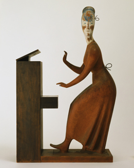 Elie Nadelman's Woman at the Piano (Museum of Modern Art, c. 1917)