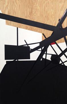 Serge Alain Nitegeka's Barricade I: Studio Study VI (Marianne Boesky gallery, 2014)