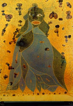 Chris Ofili's The Holy Virgin Mary (Brooklyn Museum, 1996)