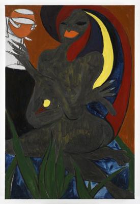 Chris Ofili's Confession (Grey Rainbow) (David Zwirner, 2006)