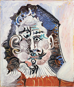 Pablo Picasso's Head of a 17th-Century Man (estate of the artist/ARS/Gagosian, 1967)