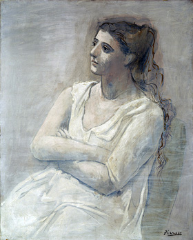 Pablo Picasso's Woman in White (Metropolitan Museum of Art, 1923)