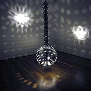 Otto Piene's Hangende Lichtkugel (courtesy of the New Museum, Sperone Westwater, 1972)