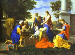 Nicolas Poussin's Achilles and Daughters of Lycomede (Museum of Fine Arts, Boston, 1656)