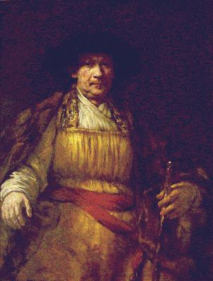 Rembrandt's Self-Portrait (Frick Collection, photo by Richard di Liberto, New York, c. 1658)
