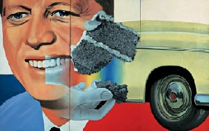James Rosenquist's Collage for President Elect (collection of the artist, 1960–1961)