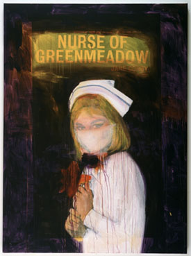 Richard Prince's Nurse of Greenmeadow (photo by the artist, Solomon R. Guggenheim Museum, 2002)