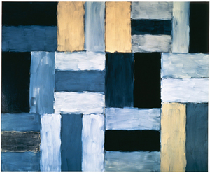 Sean Scully's Wall of Light Desert Night (Museum of Modern Art, Forth Worth, 1999)