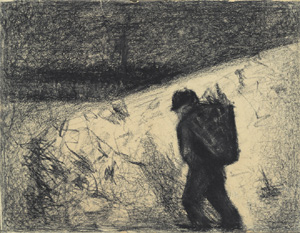 Georges Seurat's The Ragpicker (private collection, c. 1882–1883)