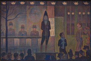 Georges Seurat's Parade de Cirque (Metropolitan Museum of Art, 1887–1888)