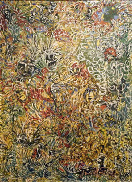 Janet Sobel's Burning Bush (Gary Snyder Fine Art, c. 1943)