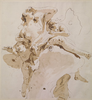 Giambattista Tiepolo's Psyche Transported to Olympus (Morgan Library, early 1740s)