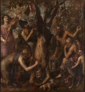 Titian's The Flaying of Marsyas (Archiepiscopal Palace, Kromeríz, 1570s)