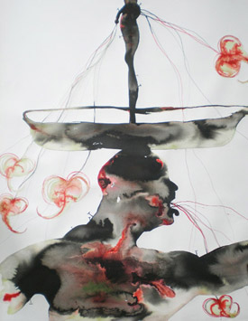 Bathelemy Toguo's Purification XXV (Robert Miller gallery, 2007)