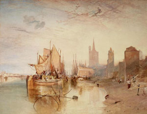 J. M. W. Turner's Cologne: The Arrival of a Packet-Boat: Evening (Frick Collection, c. 1826)
